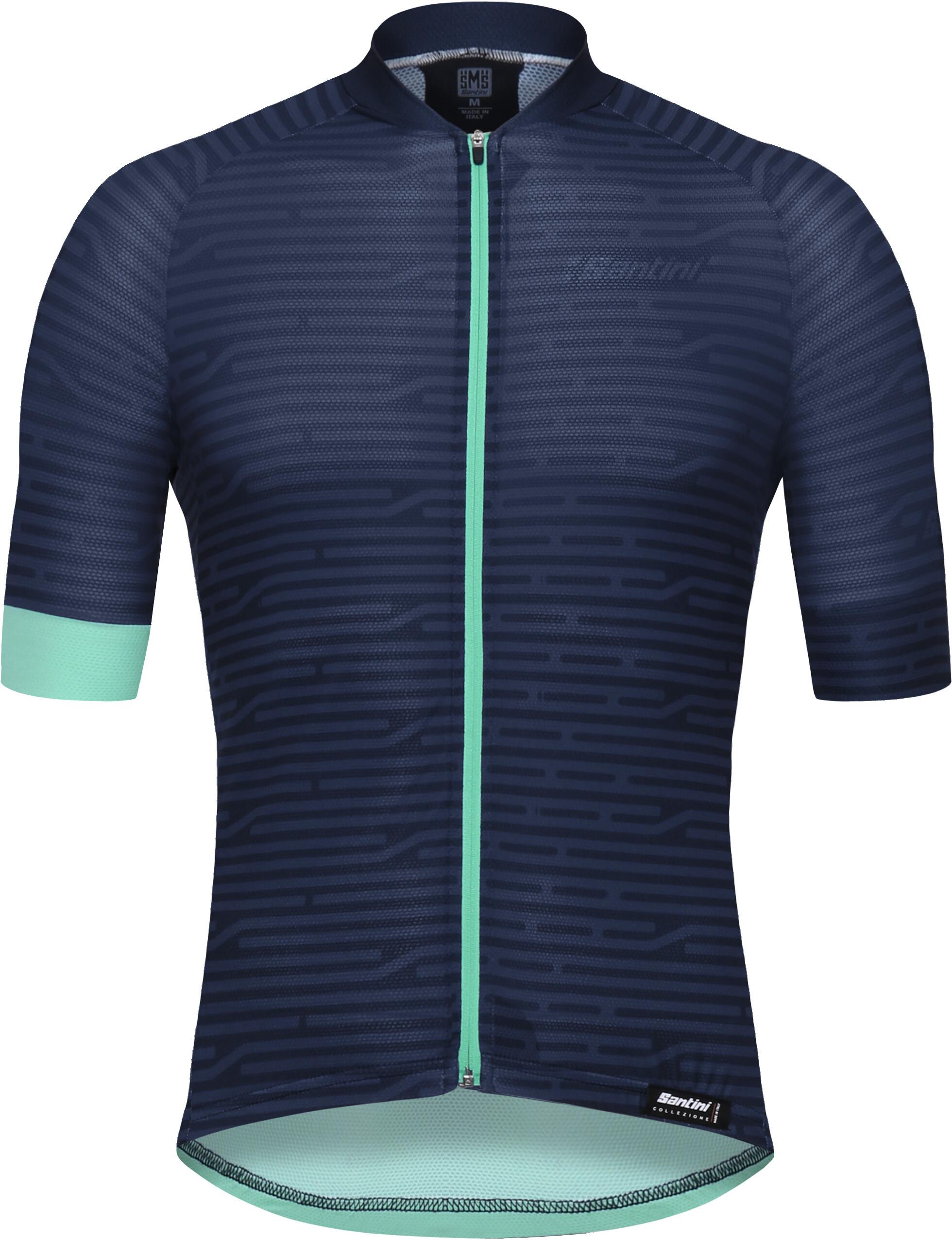 891d554a51313c Santini Soffio Maglietta jersey a maniche corte Uomo, blu nautica su ...